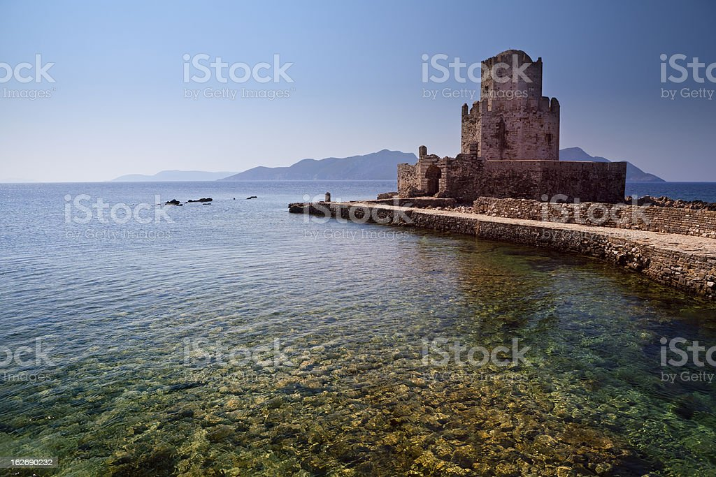 Ottoman fortress in Methoni royalty-free stock photo