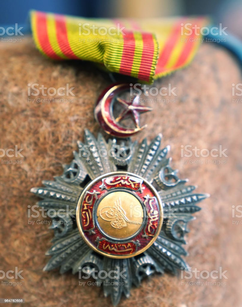 Ottoman medal with star and crescent royalty-free stock photo