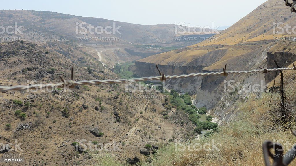 Ottoman railway collapsed on the Yarmuk River in israel royalty-free stock photo