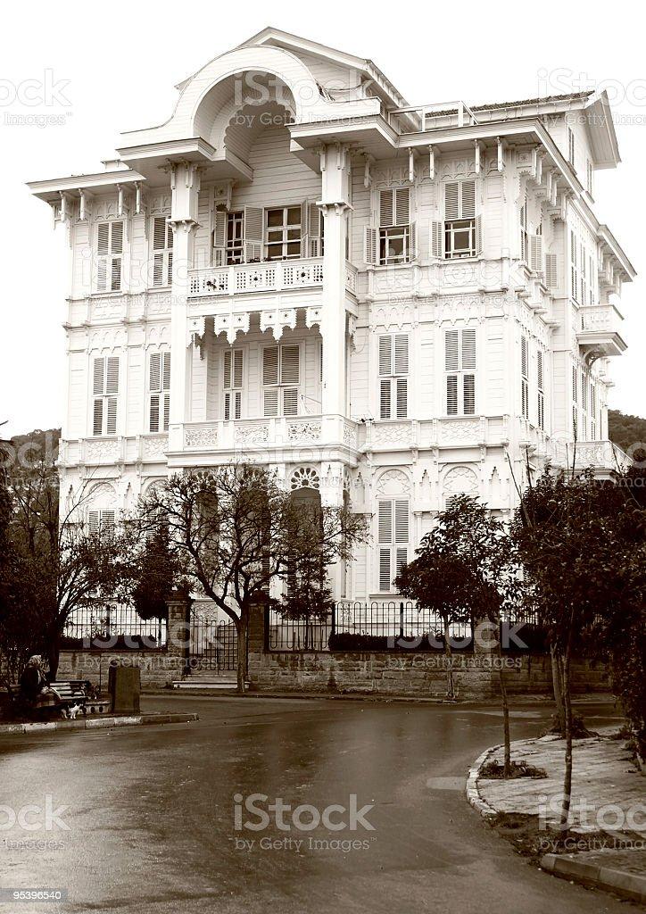Ottomane Timber Mansion Lizenzfreies stock-foto