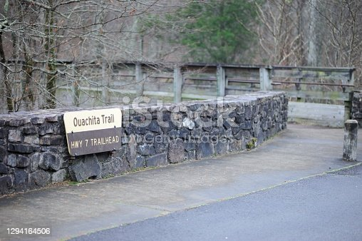 Sign for Highway 7 Trailhead on the Ouachita Trail