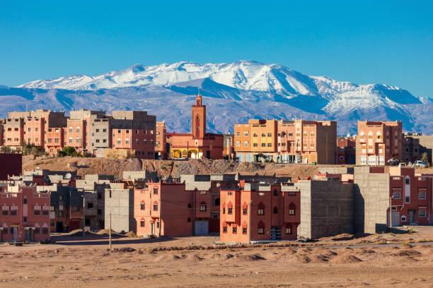 ouarzazate city, morocco - kasbah bildbanksfoton och bilder
