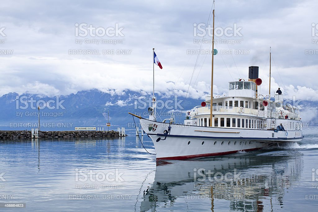 Ouchy Lausanne Switzerland royalty-free stock photo