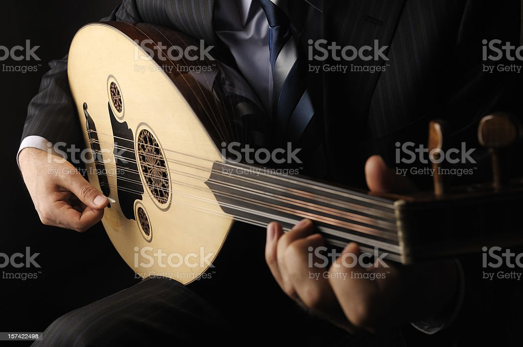 Oud Player stock photo