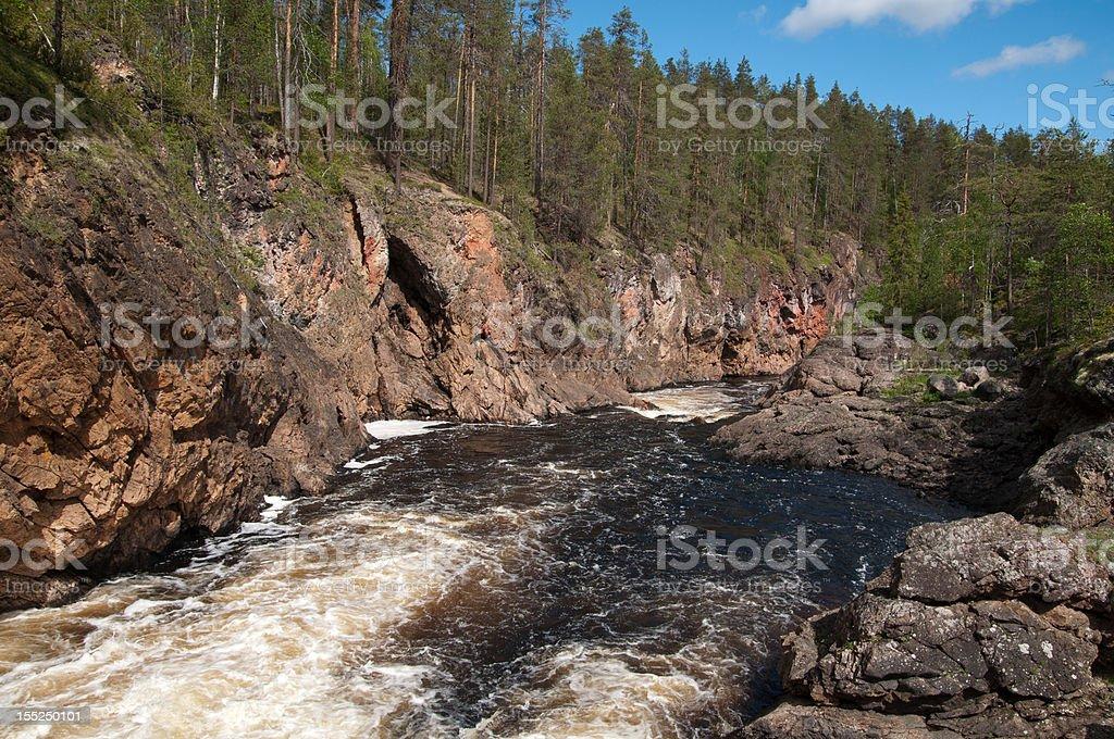 Oulanka river stock photo