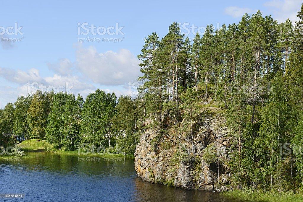 Oulankajoki River. National Park Oulanka stock photo