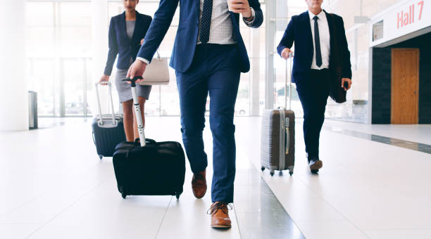 Our business requires us to travel stock photo