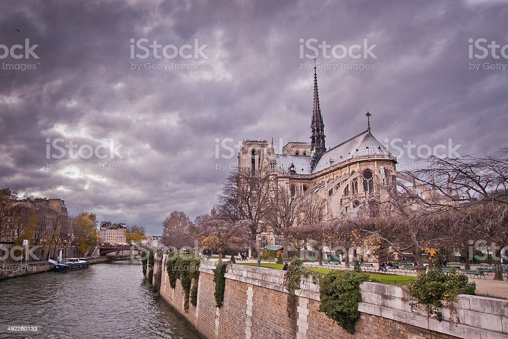 Notre dame catherdral stock photo