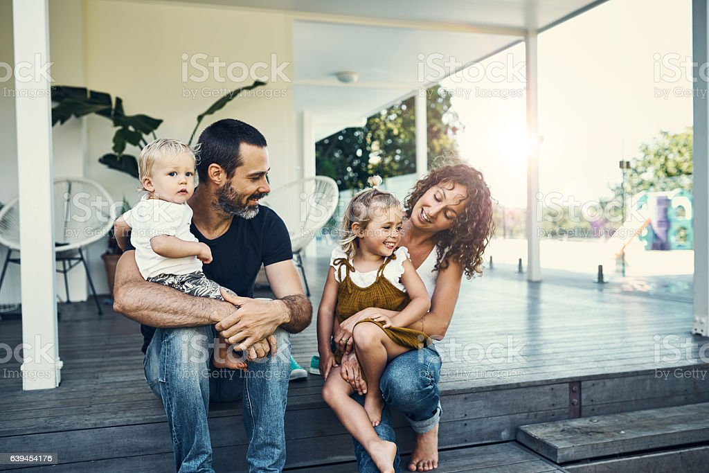 Our children are our most precious possessions - foto de stock