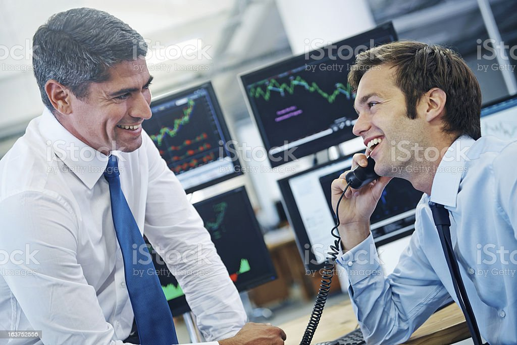 Our client is very happy! royalty-free stock photo