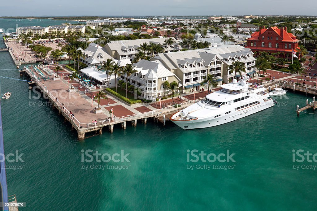 Our Cruise Stop in Key West stock photo