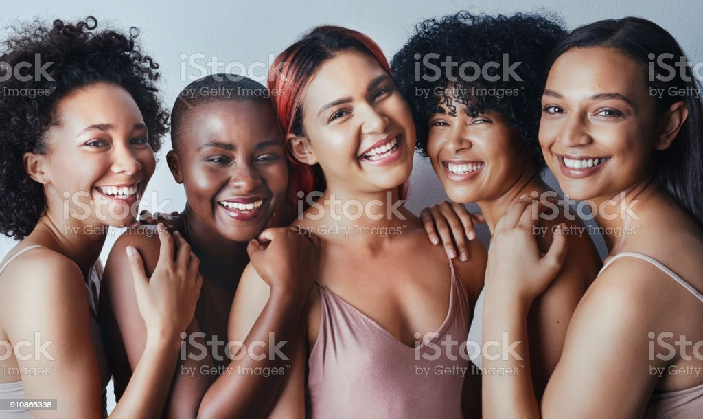 Our differences don't divide us, they unite us stock photo