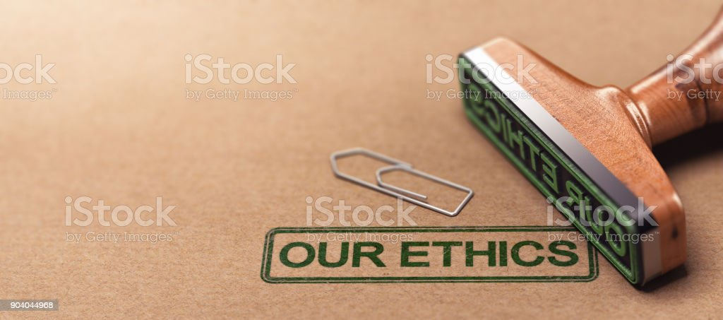 Our Ethics, Business Moral Principles stock photo