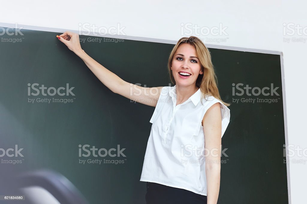 Our exam begins! stock photo