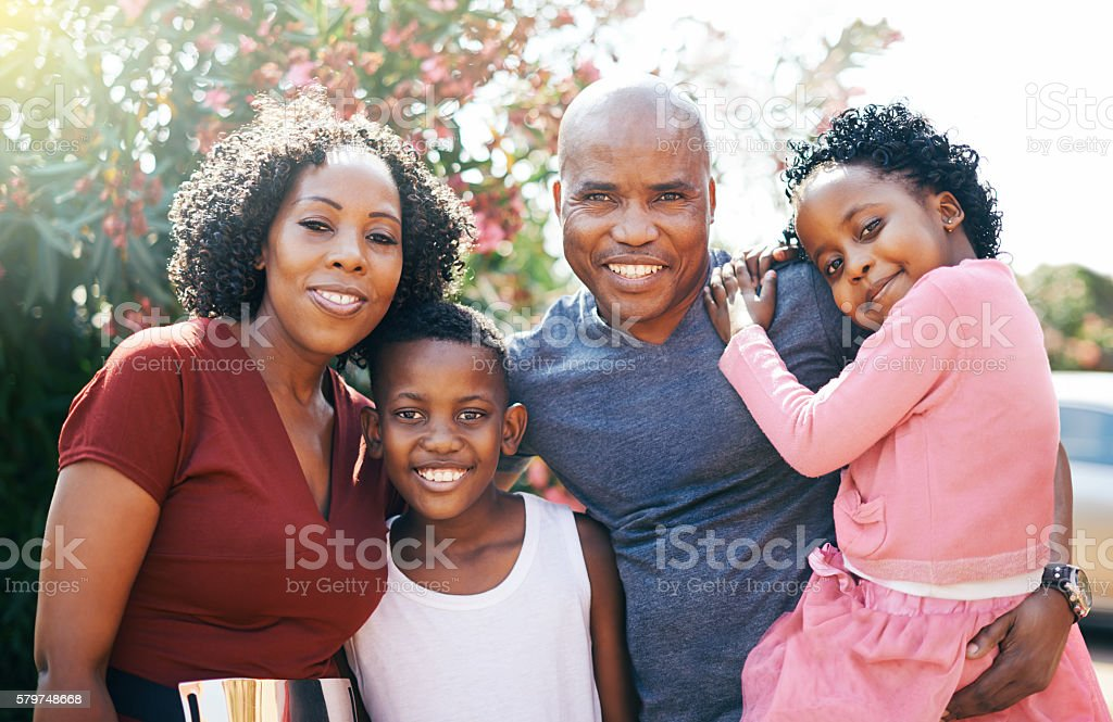 Our family bond is a strong one stock photo