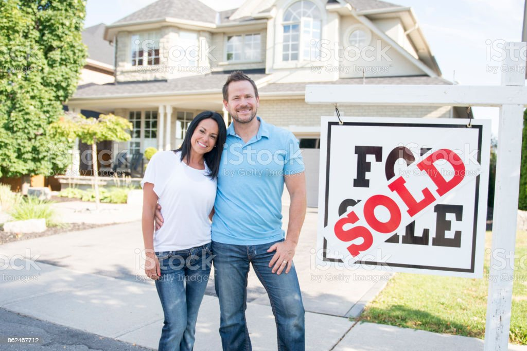 Our First House stock photo