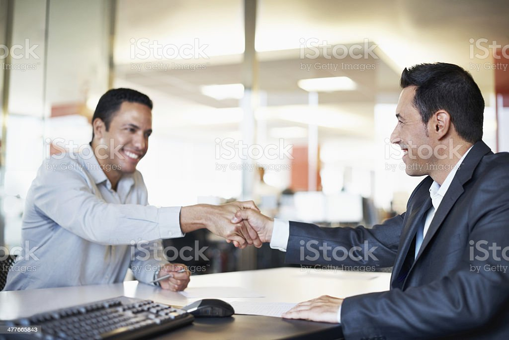 Our great meeting comes to a close stock photo