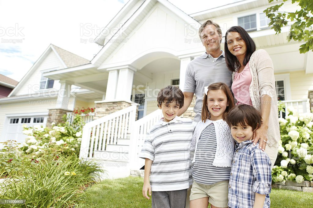 Our happy home royalty-free stock photo