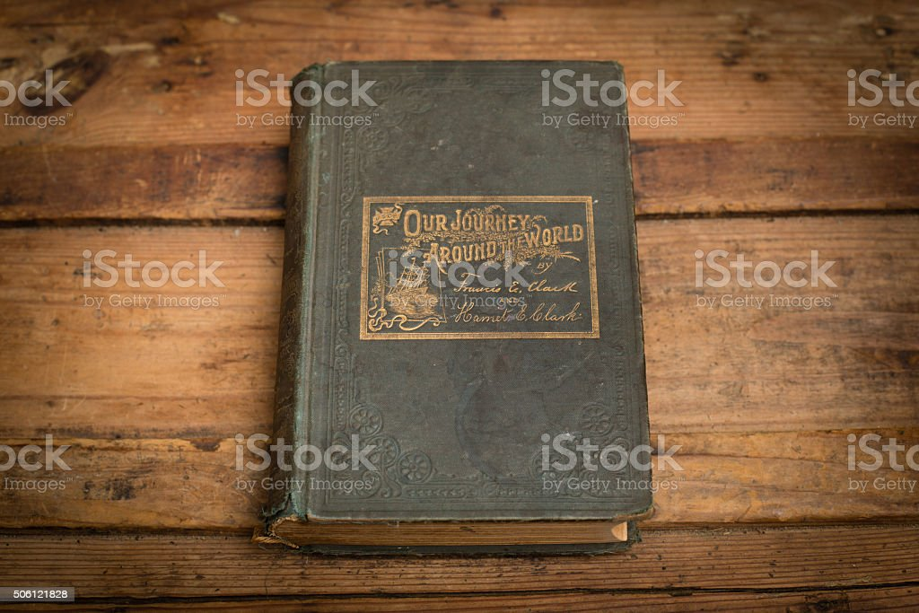 Our Journey Around the World, 1895, Antique Hardback Travel Book stock photo