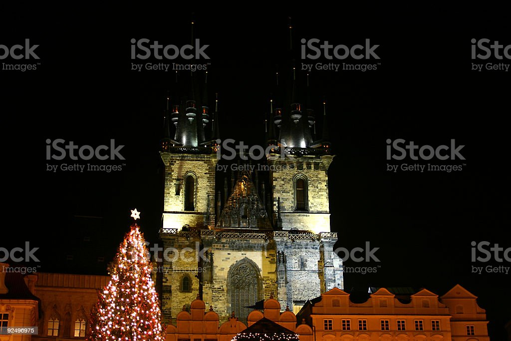 Our Lady before Tyn church in Prague royalty-free stock photo