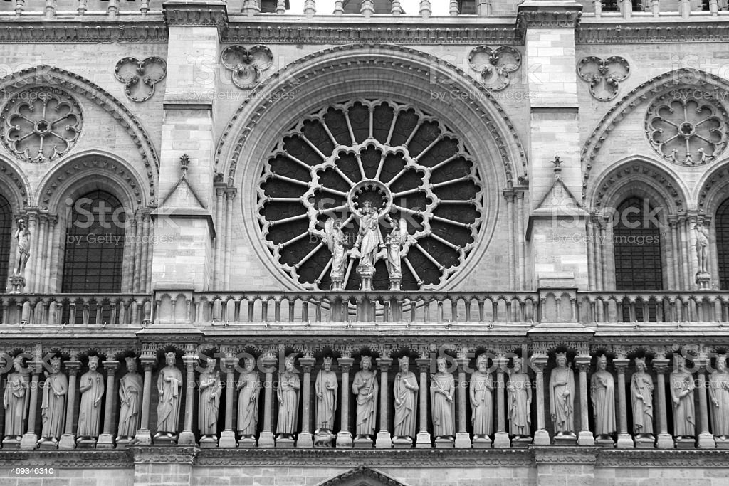 Notre Dame Cathedrale royalty-free stock photo