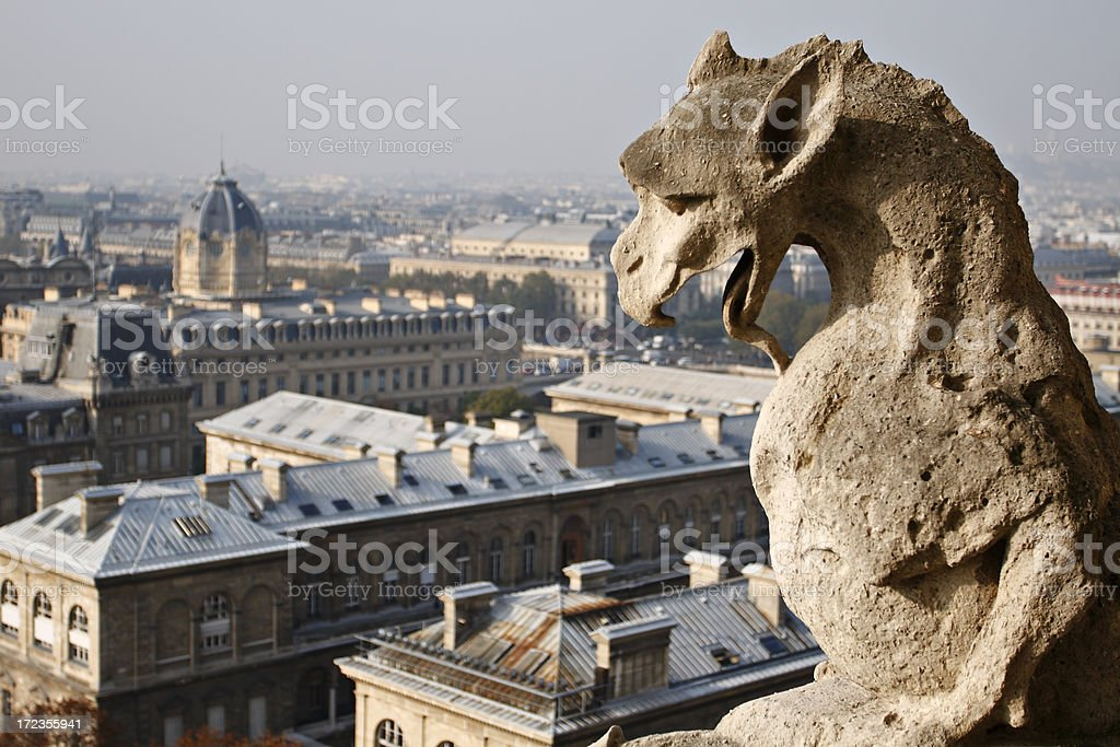 Notre Dame Gargoyle royalty-free stock photo