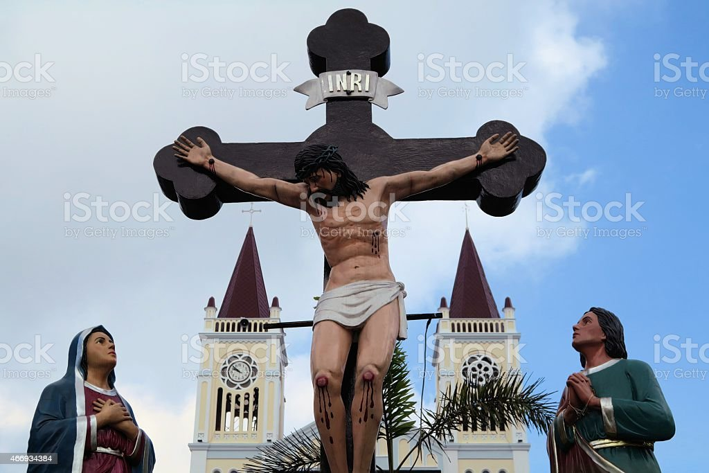 Our Lady of Atonement Cathedral in Baguio City, Philippines stock photo