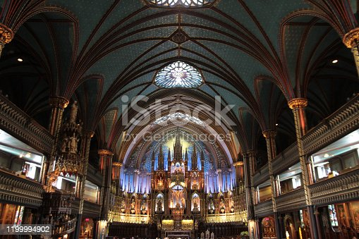 Chapelle Notre Dame (our lady of good help) is one of Montreals oldest churches located in old town.