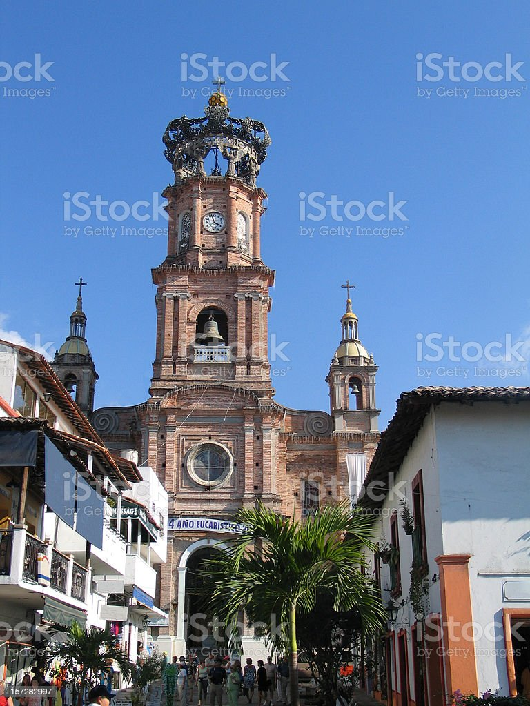 Our Lady Of Guadalaupe Church in Puerta Vallarta royalty-free stock photo