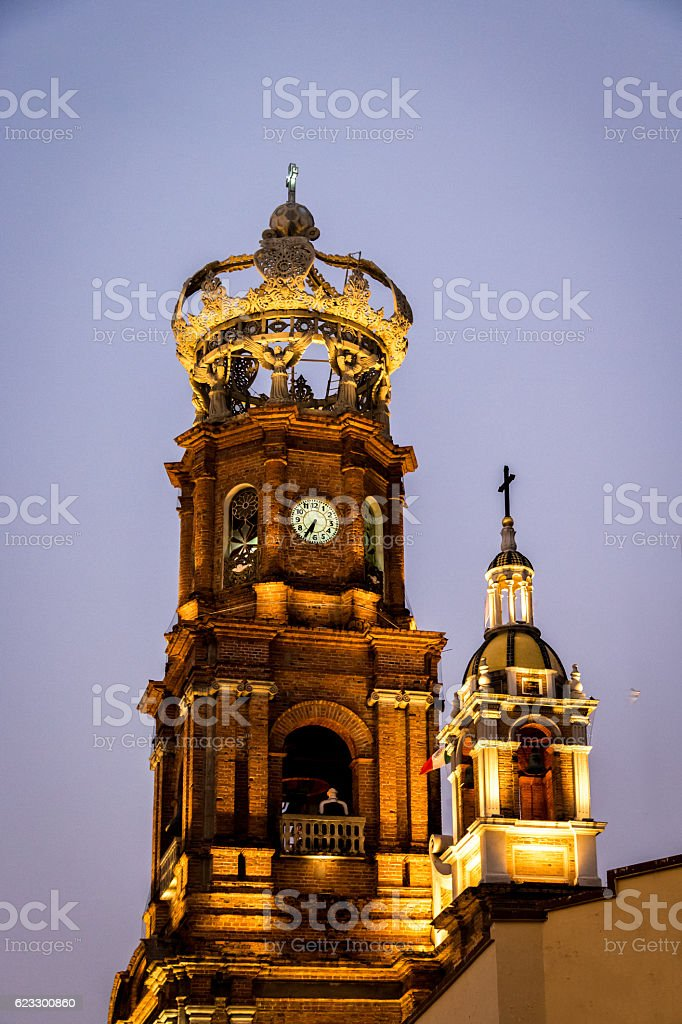 Our Lady of Guadalupe church - Puerto Vallarta, Jalisco, Mexico stock photo