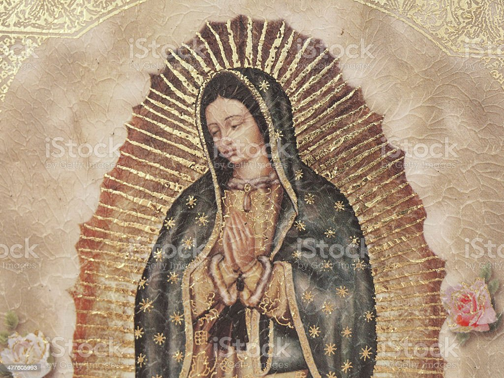 Our Lady of Gualalupe stock photo