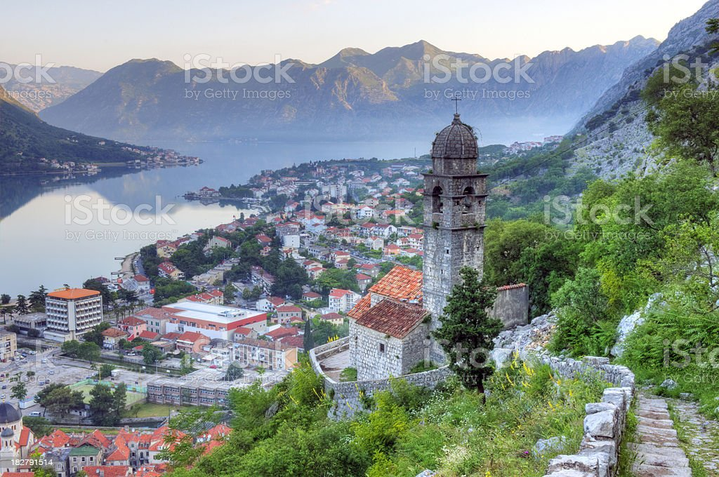Our Lady of Health, Kotor, Montenegro stock photo