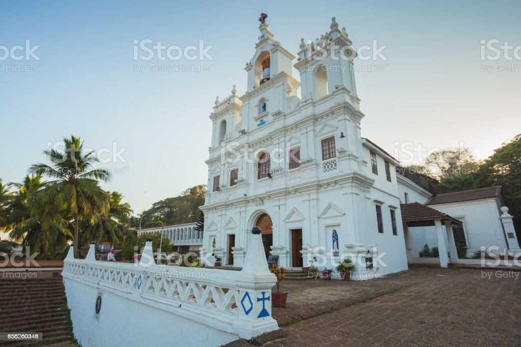 Our Lady of Immaculate Conception Church in Panjim stock photo
