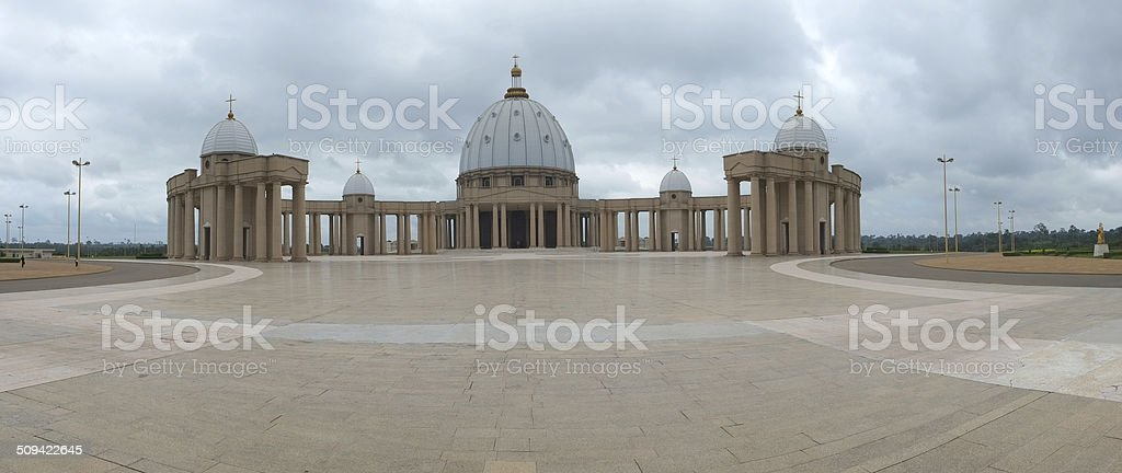 Our Lady of Peace Basilica - Yamoussoukro stock photo