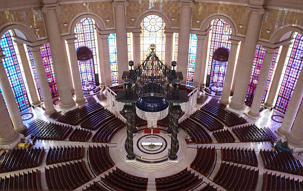 Our Lady of Peace Basilica - Yamoussoukro Basilica of Our Lady of Peace (Yamoussoukro) - Ivory Coast. côte d'ivoire stock pictures, royalty-free photos & images
