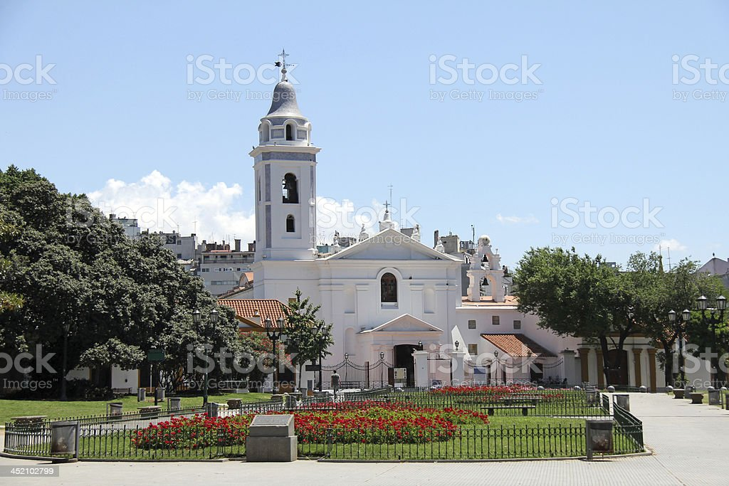 Our Lady of Pilar Church and Convent stock photo