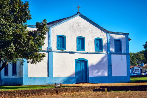 Kirche Our Lady of Sant'Ana vor den wichtigsten Platz von Chapada Dos Guimarães. – Foto