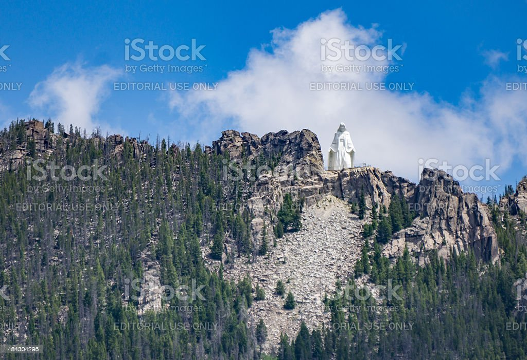 Our Lady of the Rockies stock photo