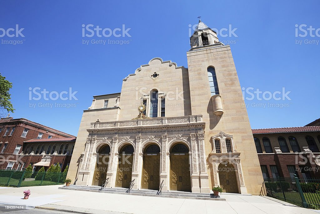 Our Lady of Victory Church in Portage Park, Chicago royalty-free stock photo