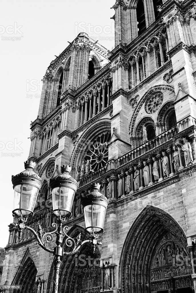 notre dame royalty-free stock photo
