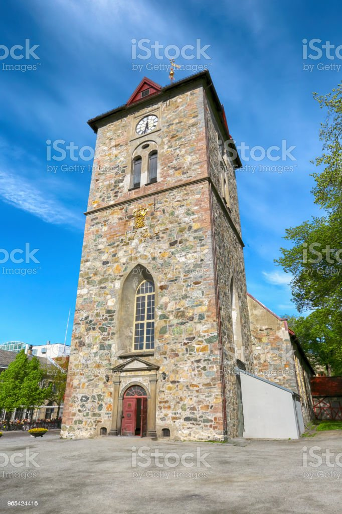Our Lady`s church, Trondheim royalty-free stock photo