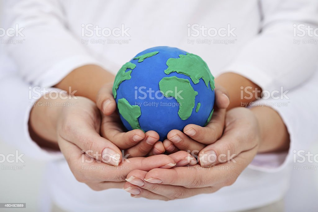 Our legacy to the next generations - a clean earth stock photo