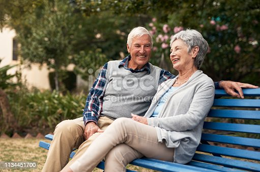 Shot of a happy senior couple enjoying quality time at the park