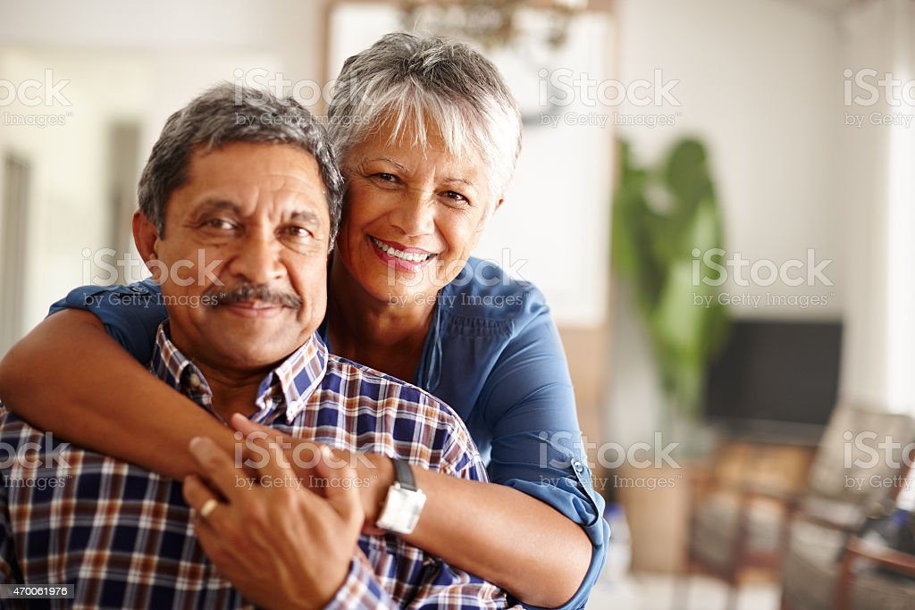 Our love for each other will never grow old stock photo