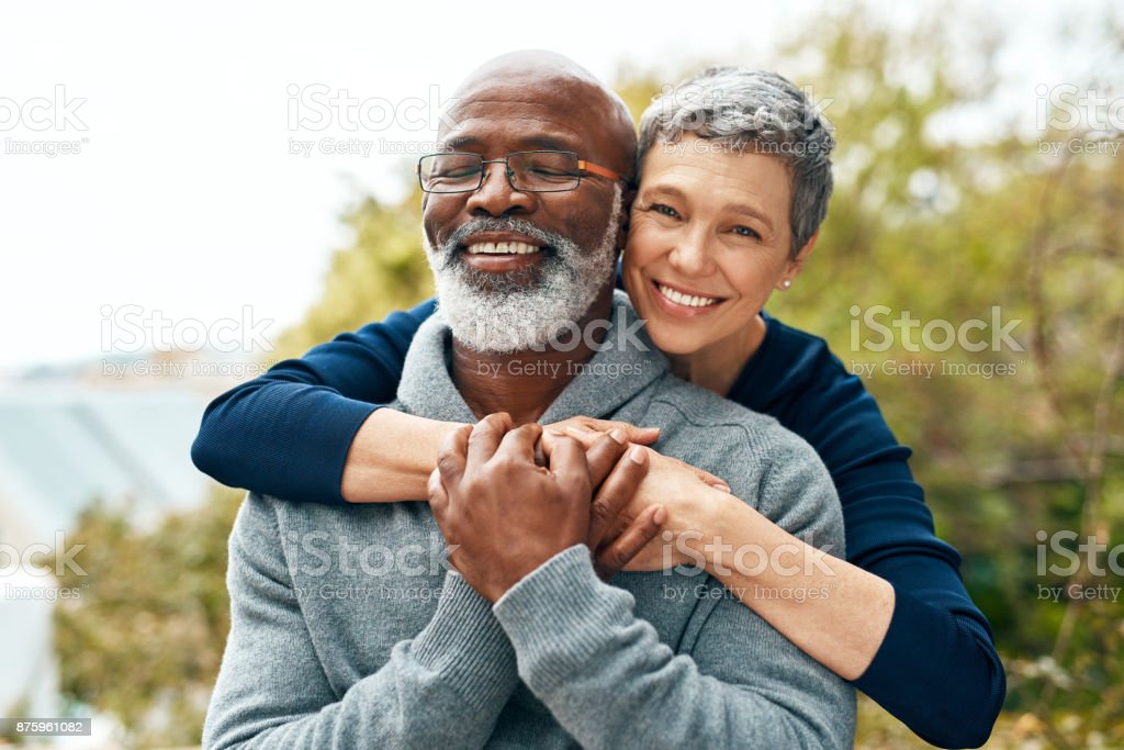 Our love got stronger over the years stock photo