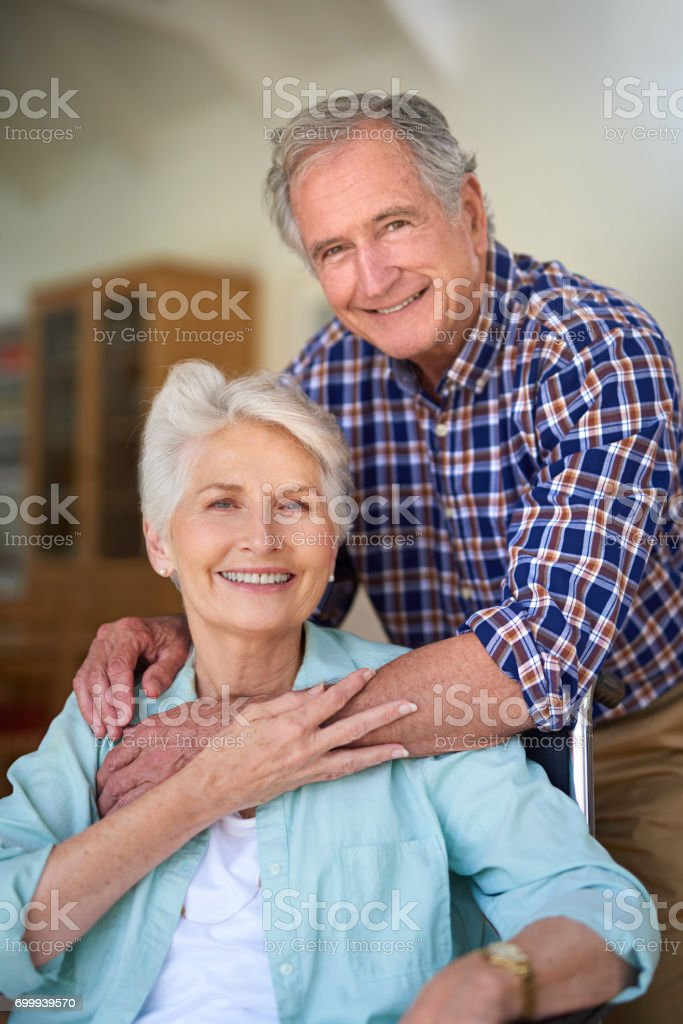 Our love has lasted a lifetime stock photo