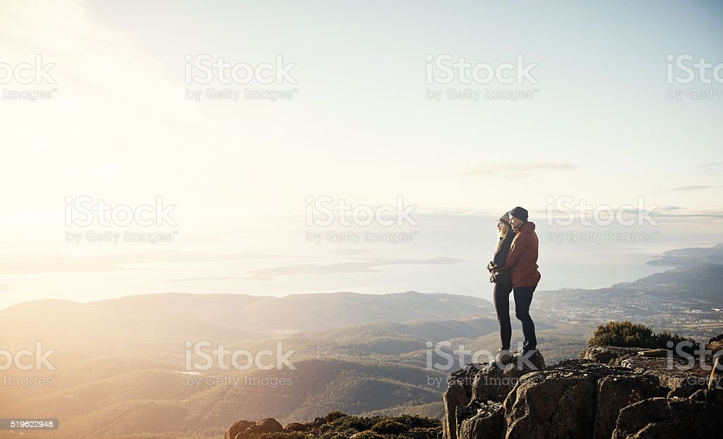 Our love will move mountains stock photo