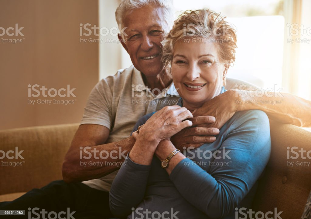 Our marriage just gets better with every passing year stock photo