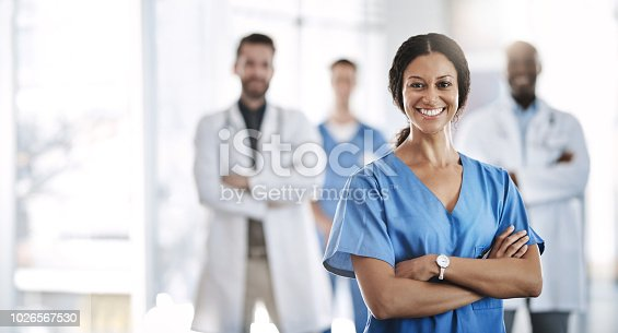 Portrait of a confident doctor working at a hospital