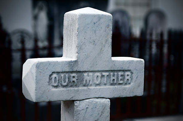 our mother - engravement on tombstone - engravement stock photos and pictures